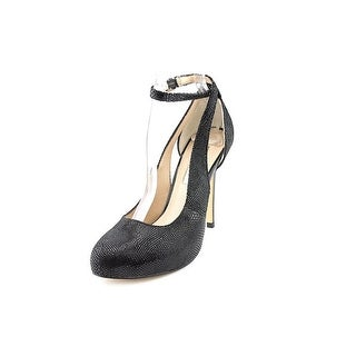 INC International Concepts Lucey Women Open Toe Leather Black Platform Heel
