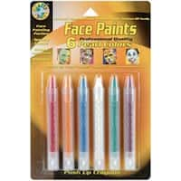 Pearl - Face Paint Push-Up Crayons 6/Pkg