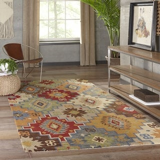 Link to Momeni Tangier Hand Tufted Wool Geometric Area Rug Similar Items in Rugs