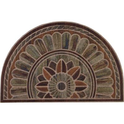 "Copper Grove Akhtala Decorative Semi-circular Entry Mat - 24"" x 36"""
