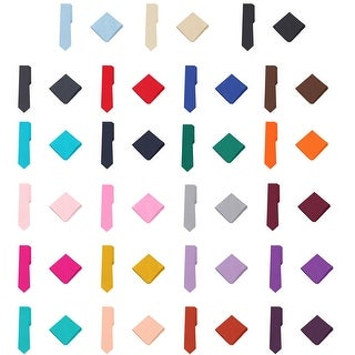 Jacob Alexander Polka Dot Print Men's Extra Long Tie Pocket Square Set - One size