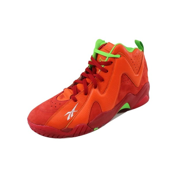 Reebok Men's Kamikaze II 2 Mid Chili Pepper Red/Orange-Green V53622
