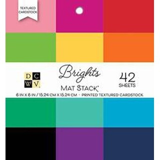 """Brights Textured Solid - DCWV Single-Sided Cardstock Stack 6""""X6"""" 42/Pkg"""