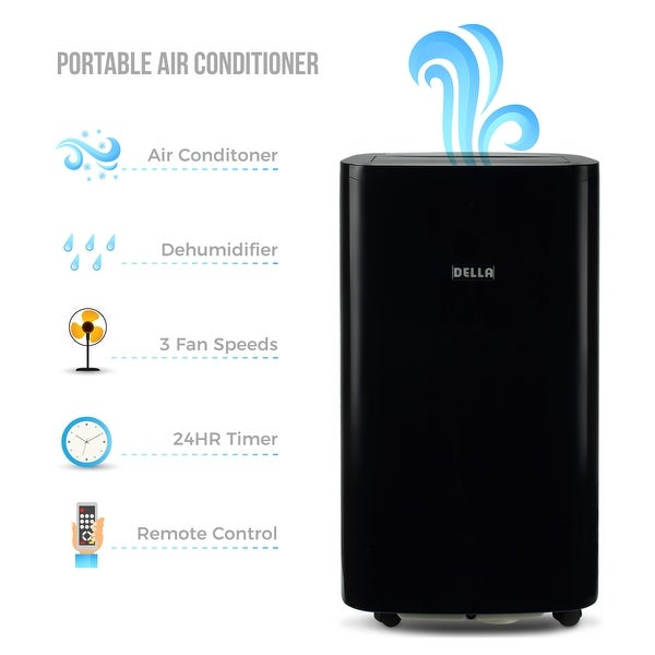 Shop Della 14000 BTU Portable Air Conditioner Fan Cooling