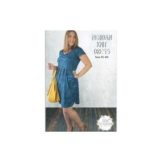 Sew To Grow Meridan Knit Dress Sz XS-4XL Ptrn