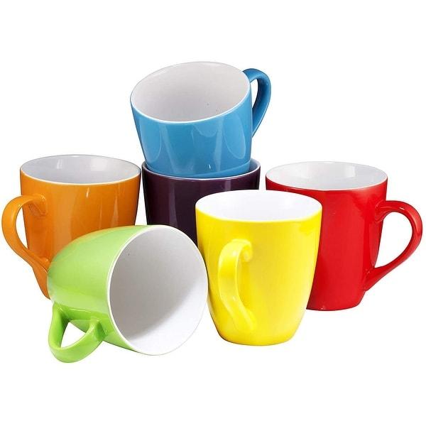 Coffee Mug Set Set of 6 Large-sized 16 Ounce Ceramic Coffee Mugs Restaurant Coffee Mugs By Bruntmor. Opens flyout.