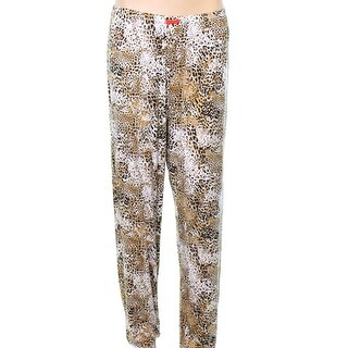 Ellen Tracy NEW Beige Womens Size 3X Plus Animal Print Pajama Pants