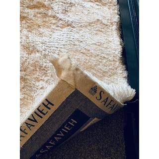 """Safavieh Handmade Silken Glam Paris Shag Ivory Runner Rug - 2'3"""" x 6' Runner"""