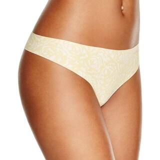 Calvin Klein Womens Thong Panty Printed Seamless