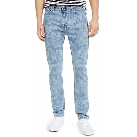 Levi's Men's 510 Skinny Fit Laser Printed Jean Blue Size 31X30