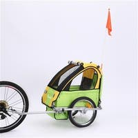 BT-505-Green Single Seat Baby Trailer Only, Green
