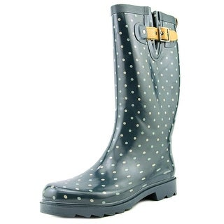 Chooka Striped Dot Women Round Toe Synthetic Multi Color Rain Boot