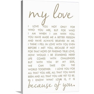 """""""Love Letter"""" Canvas Wall Art"""