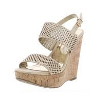Carlos by Carlos Santana Womens Beverlee Wedge Sandals Faux Leather Platform