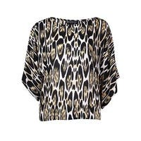 INC International Concepts Women's Dolman Animal Print Top - oblong leopard
