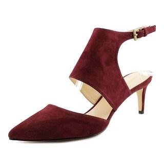 Nine West Salinda Women Pointed Toe Suede Red Slingback Heel
