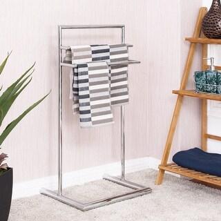 Costway 3 Tier Metal Towel Rack Holder Floor Stand Free Standing Bathroom Organizer