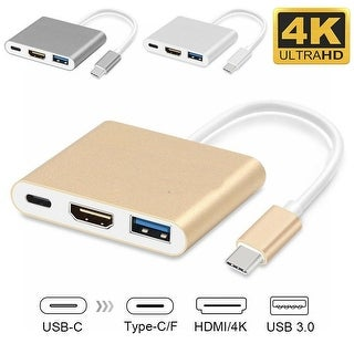 Link to Type C USB 3.1 to USB-C 4K HDMI USB 3.0 Adapter Cable 3 in 1 Hub Similar Items in Computer Accessories