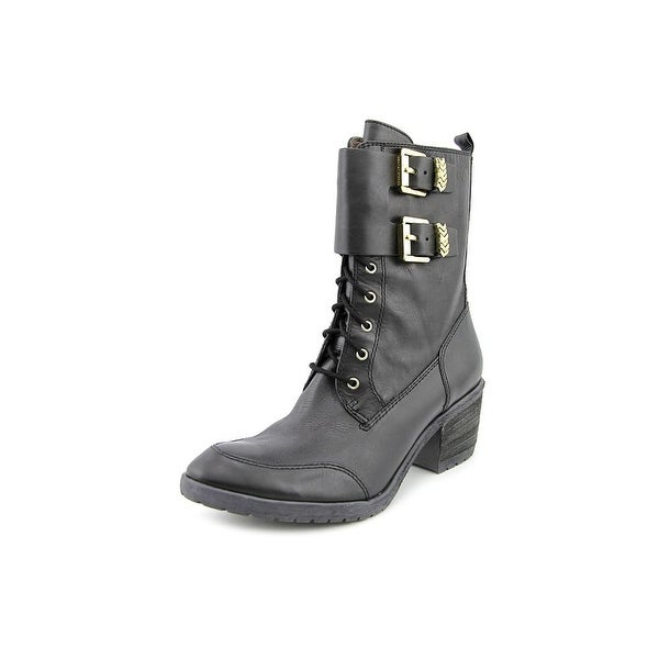 Donald J Pliner Danti-06 Women Round Toe Leather Mid Calf Boot