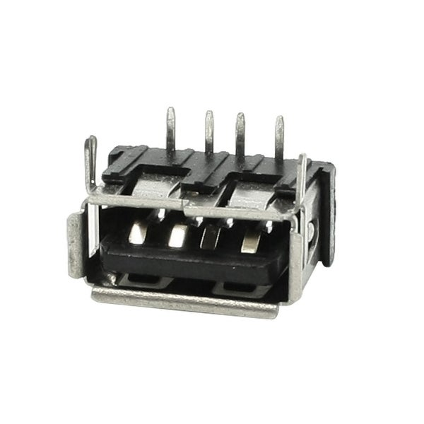 Unique Bargains 0.39 Long Type A Female USB Jack PCB Mounting Socket Connector for Computer