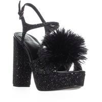 MICHAEL Michael Kors Fara Platform Dress Sandals, Black Glitter