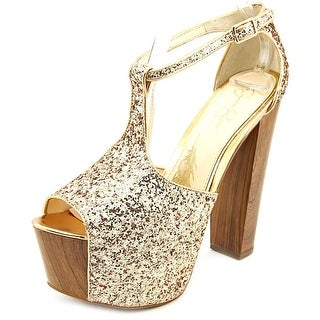Jessica Simpson Danyy Open Toe Synthetic Platform Heel