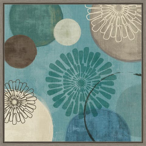 Flora Mood II by Veronique Charron Framed Canvas Art