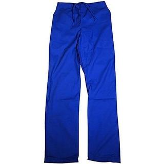 Natural Uniforms Mens Twill Straight Leg Scrub Pants - L
