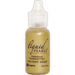 0.5 oz Liquid Pearls Dimensional Pearlescent Paint - Ancient Gold