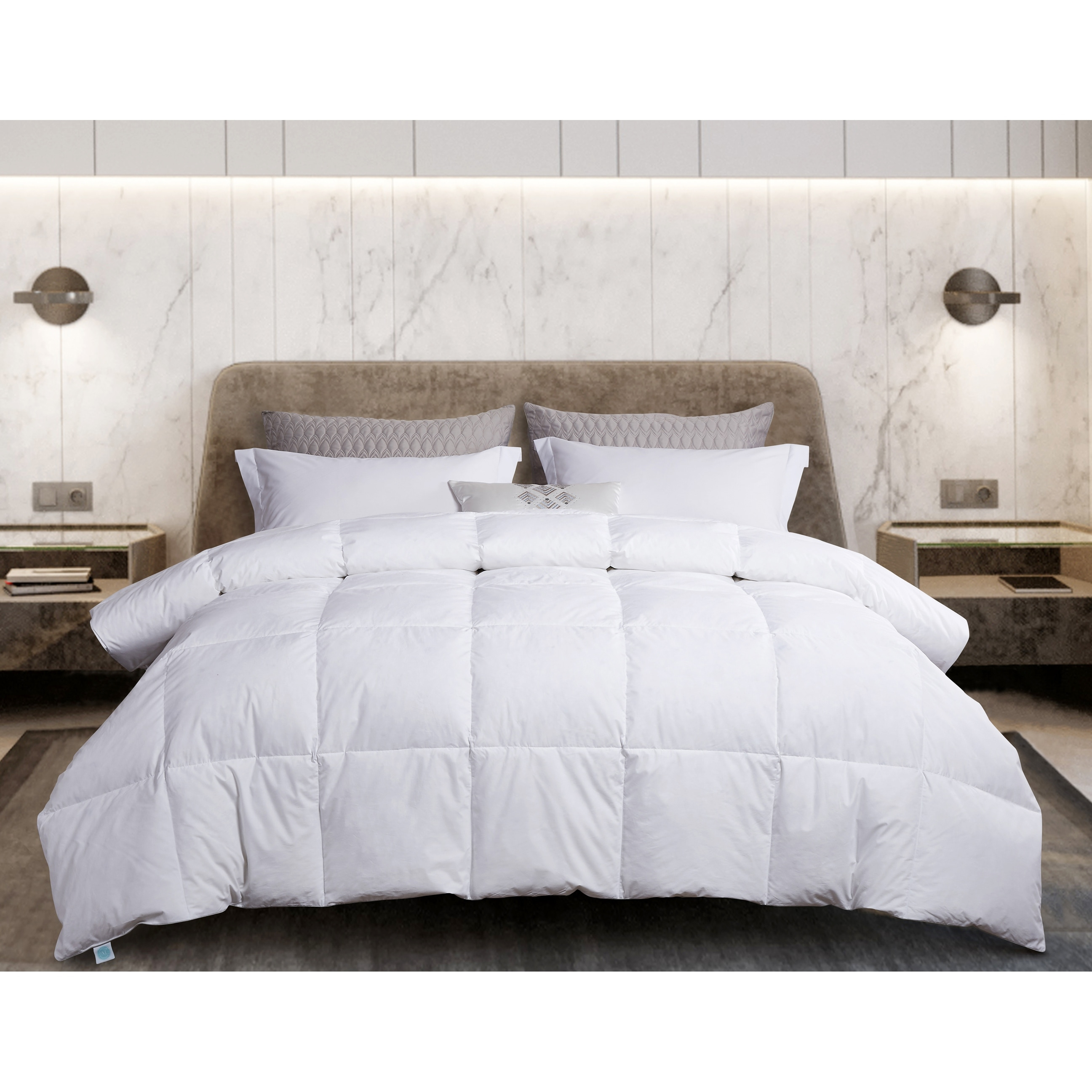 Martha Stewart White Goose Feather And White Goose Down Comforter On Sale Overstock 31210103