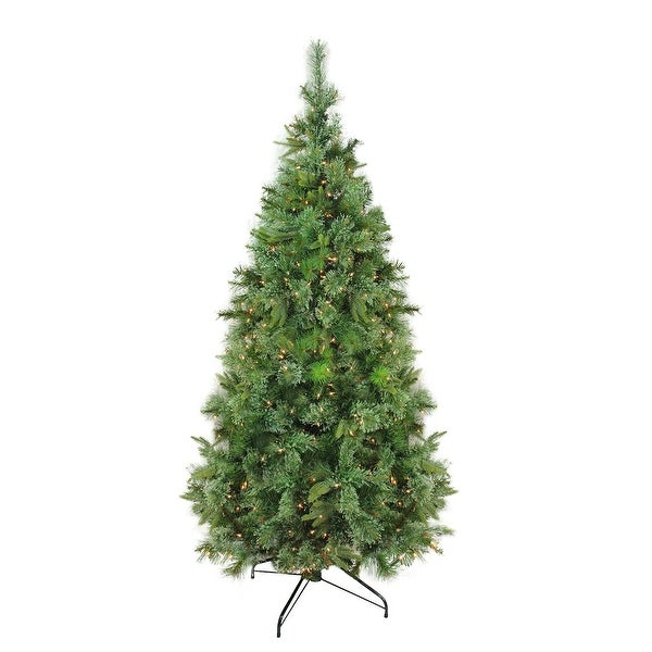 9.5' Pre-Lit Cashmere Mixed Pine Artificial Christmas Tree - Clear Dura Lights - green
