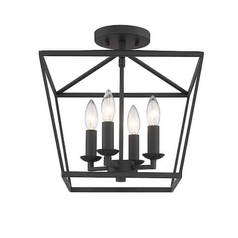 Mini Lantern Ceiling Light and Pendant in Black