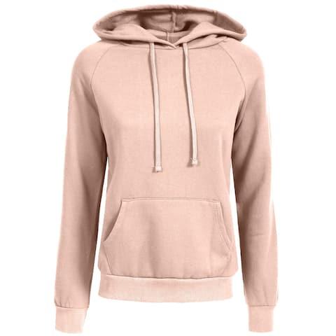 NE PEOPLE Womens Casual Fleece Hoodie with Kangaroo Pockets [NEWT325]