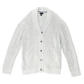 Alfani NEW Gray Heather Mens Size 2XL Classic-Fit Cardigan Sweater