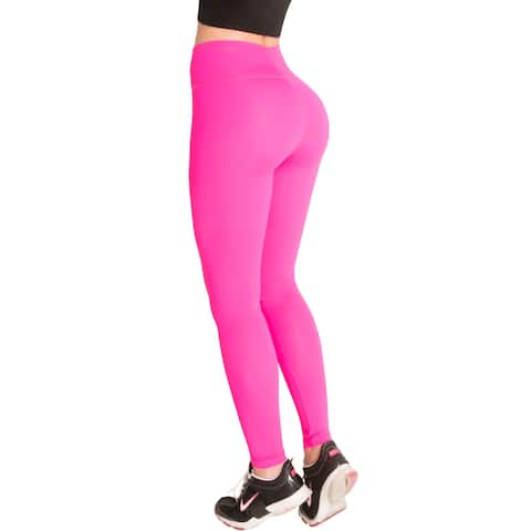56c5f725bca4 Butt Lifter Sports Leggings with Internal High Rise Body Shaper Powernet  Levanta Cola Colombianos Fu