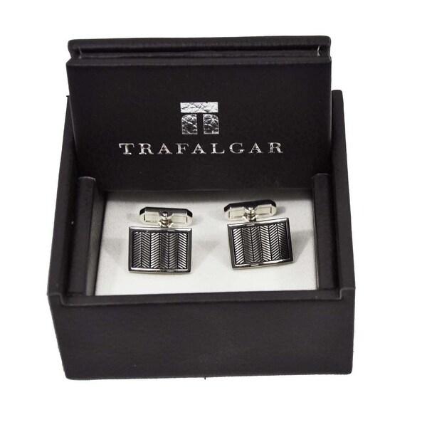 Trafalgar Woven Cuff Links Silver