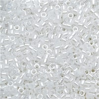 Miyuki Delica Seed Beads 11/0 - White Pearl DB201 7.2 Grams