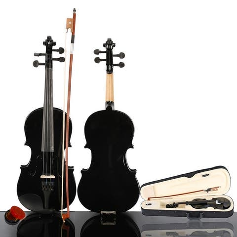 1/8 Acoustic Violin Case Bow Rosin Pink