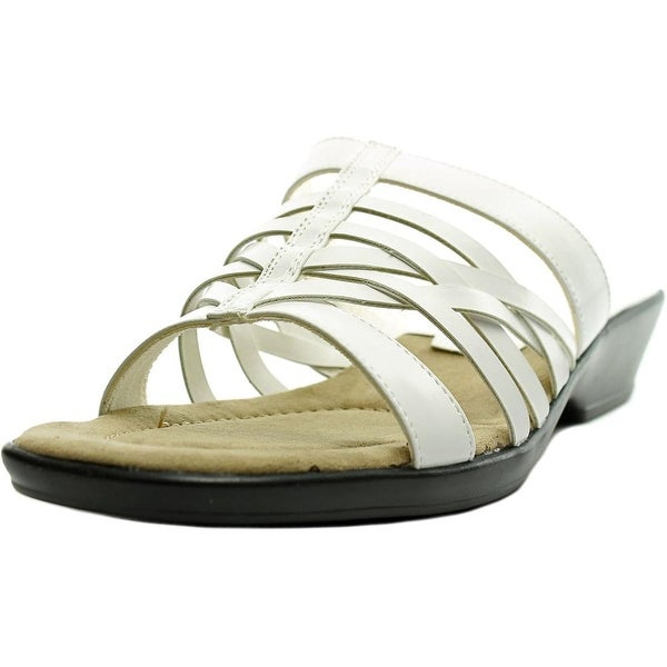Easy Street Seaside Women N/S Open Toe Synthetic White Slides Sandal