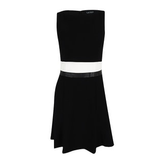 Lauren Ralph Lauren Women's Popover Dress - Black/Ivory