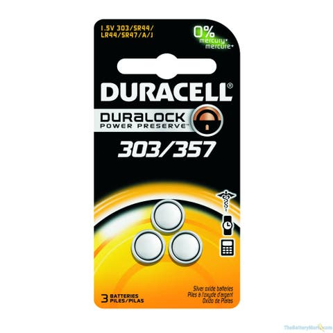 Duracell DD303357BPK D303/357 1.55V Silver-Oxide Battery (Package of 3)