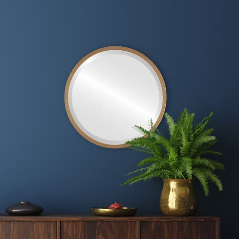 London Framed Round Mirror - Gold Paint - Gold Paint