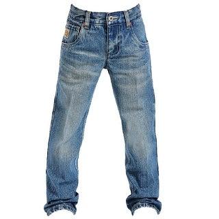 Cinch Western Denim Jeans Boys Tanner Med Stonewash