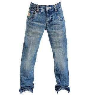Cinch Western Denim Jeans Boys Tanner Med Stonewash MB16981001|https://ak1.ostkcdn.com/images/products/is/images/direct/b462a012e04f88e564e94f7b5ed84dac65c04447/Cinch-Western-Denim-Jeans-Boys-Tanner-Med-Stonewash-MB16981001.jpg?impolicy=medium