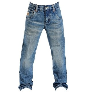 Cinch Western Denim Jeans Boys Tanner Med Stonewash