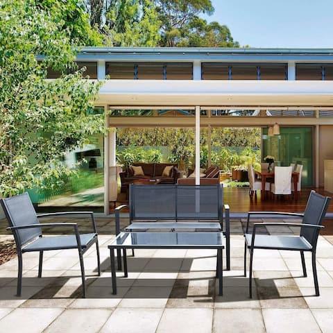 Homall 4-piece Outdoor Patio Furniture Set