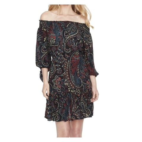 Jessica Simpson Small Junior Printed Off-Shoulder Dress