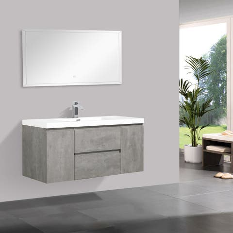 Alma-Pre 48-inch Wall-mount Vanity with Reinforced Acrylic Sink