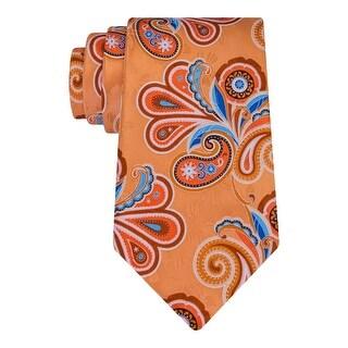 Geoffrey Beene Mens Neck Tie Silk Paisleys - o/s