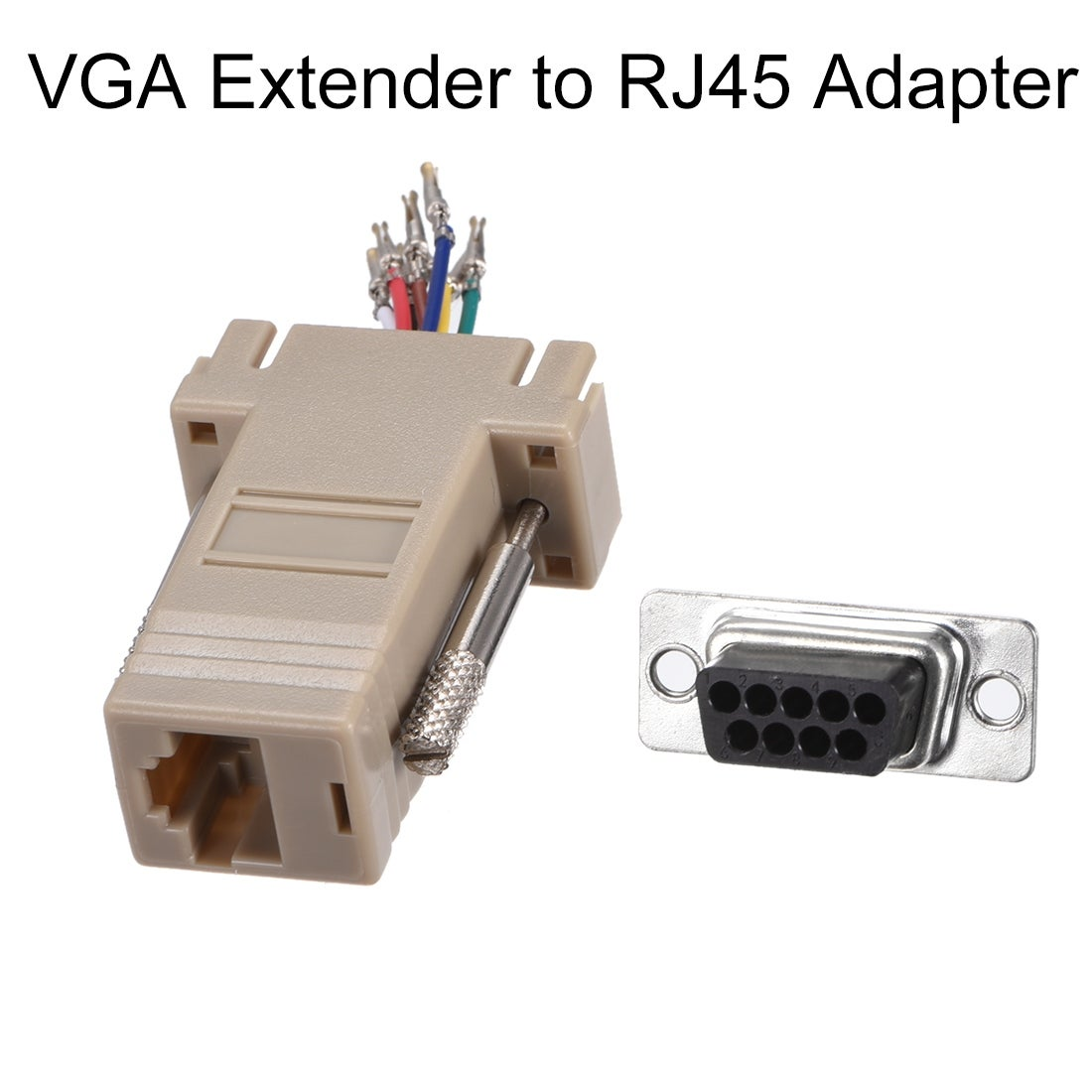 US SELLER FAST RJ45 Modular Serial Adapter Ethernet to Console DB9F 2 Pack